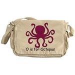 O is for Octopus Messenger Bag
