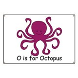 O is for Octopus Banner