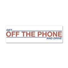 Get Off the Phone Car Magnet 10 x 3