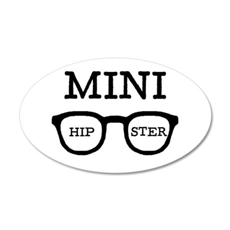 'Mini Hipster' 22x14 Oval Wall Peel