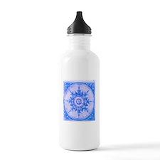 Blue Wind Rose Water Bottle