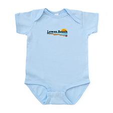 Lewes Beach DE - Beach Design. Infant Bodysuit