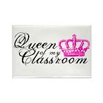 Queen of my Classroom Rectangle Magnet