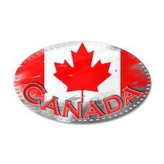 Canada - 38.5 x 24.5 Oval Wall Peel
