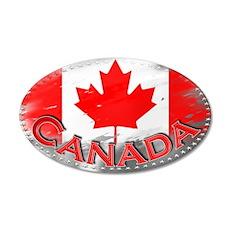 Canada - 22x14 Oval Wall Peel