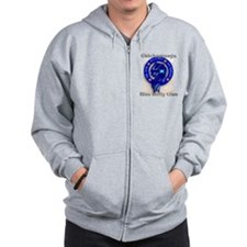 Blue Holly Clan Zip Hoodie