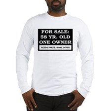 For Sale 58 Year Old Birthday Long Sleeve T-Shirt