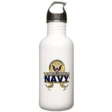 US Navy Gold Anchors Water Bottle