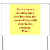 Wisdom of Plato Yard Sign