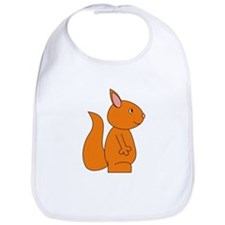 Cute Red Squirrel Bib