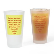 Wisdom of Plato Drinking Glass