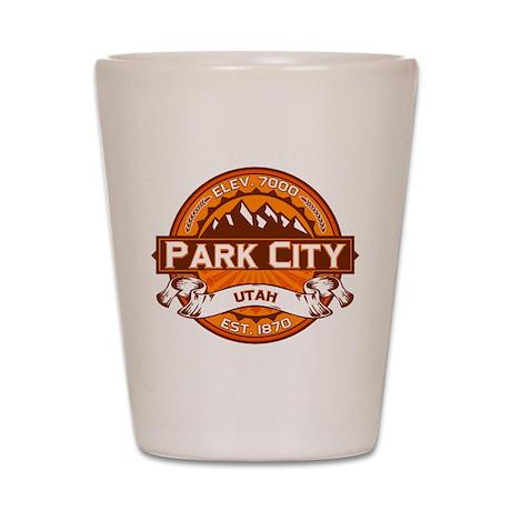 Park City Tangerine Shot Glass