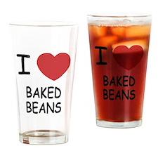 I heart baked beans Drinking Glass