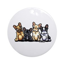 Funny French Bulldog Ornament (Round)