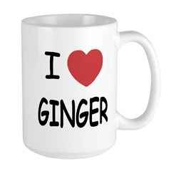 I heart ginger Large Mug