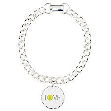Tennis LOVE ALL Charm Bracelet, One Charm