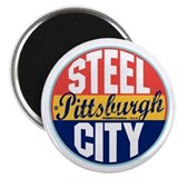 Pittsburgh Vintage Label Magnet