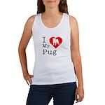 I Love My Pug Women's Tank Top