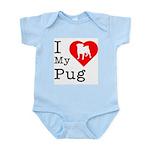 I Love My Pug Infant Bodysuit