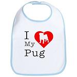 I Love My Pug Bib