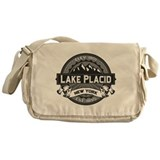 Lake Placid Grey Logo Messenger Bag