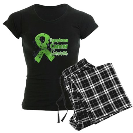 Lymphoma Survivor Women's Dark Pajamas