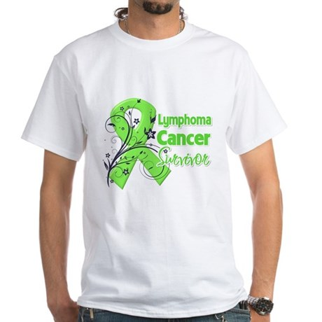 Lymphoma Survivor White T-Shirt
