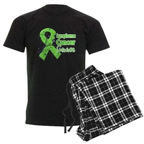 Lymphoma Survivor Men's Dark Pajamas
