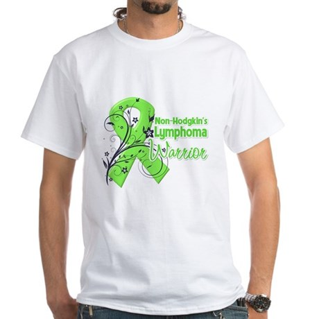 Non-Hodgkins Warrior White T-Shirt