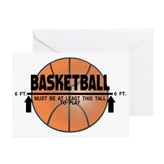 Basketball This Tall Greeting Cards (Pk of 10)
