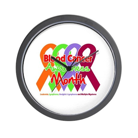 Blood Cancer Month Wall Clock