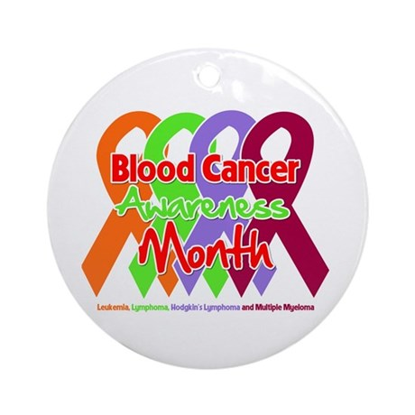 Blood Cancer Month Ornament (Round)