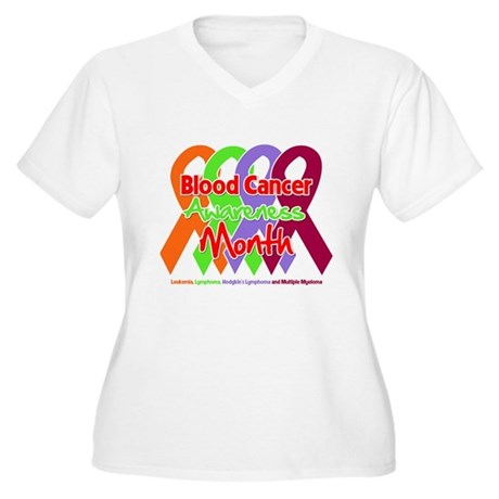 Blood Cancer Month Women's Plus Size V-Neck T-Shir