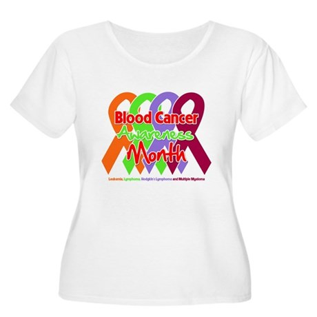 Blood Cancer Month Women's Plus Size Scoop Neck T-
