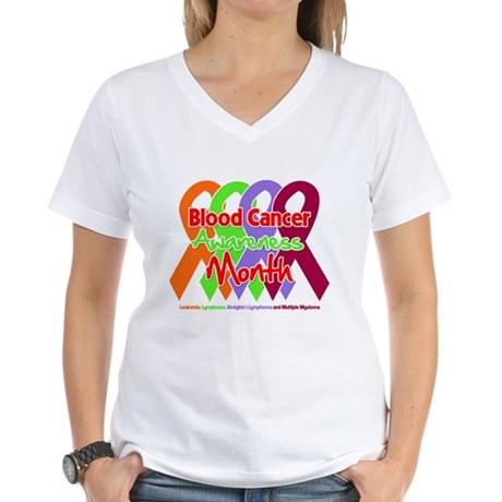 Blood Cancer Month Women's V-Neck T-Shirt