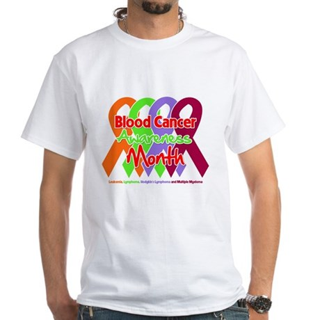 Blood Cancer Month White T-Shirt
