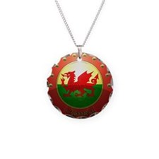 welsh shield Necklace Circle Charm