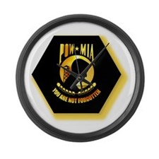 Emblem - POW - MIA Large Wall Clock
