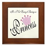 Party Princess Framed Tile