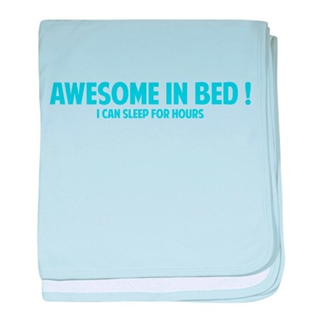 Awesome in Bed baby blanket