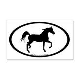 Arabian Horse Oval Car Magnet 20 x 12