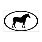 Draft Horse Oval Car Magnet 20 x 12