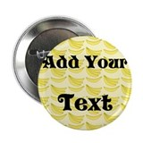 Banana Pattern with Custom Text 2.25&quot; Button