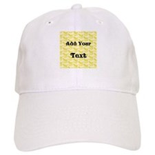 Banana Pattern with Custom Text Baseball Cap