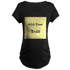 Banana Pattern with Custom Text T-Shirt