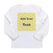 Banana Pattern with Custom Text Long Sleeve Infant