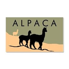 Alpacas Hillside Car Magnet 20 x 12