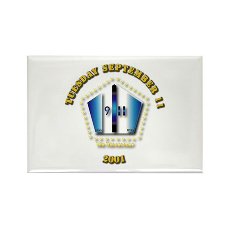Emblem - 9-11 Rectangle Magnet (100 pack)