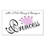 Party Princess Rectangle Sticker