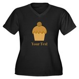 Chocolate Cupcake with Custom Text Women's Plus Si